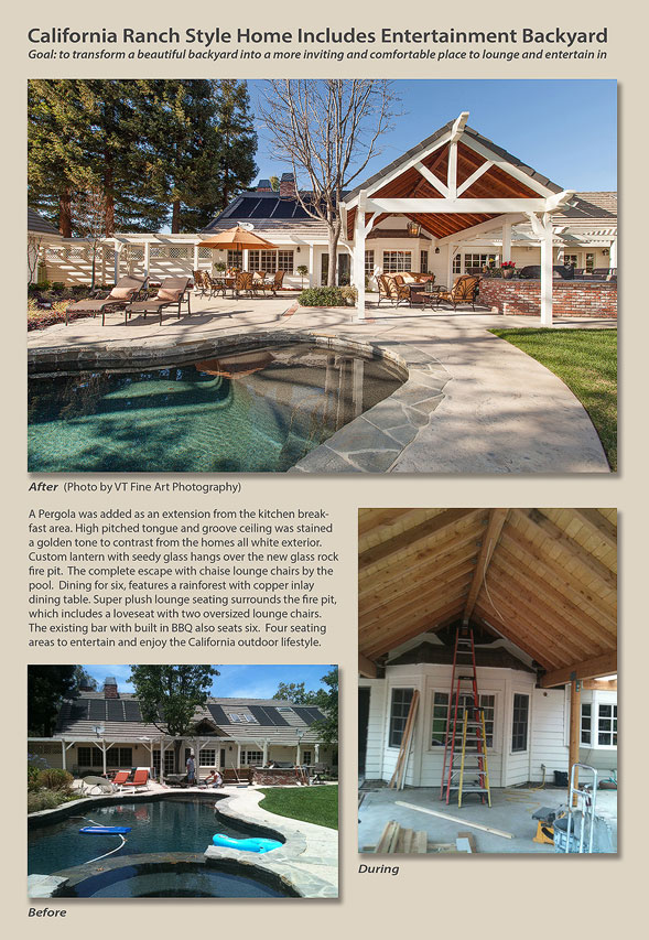 California ranch style home includes entertainment for California ranch style architecture