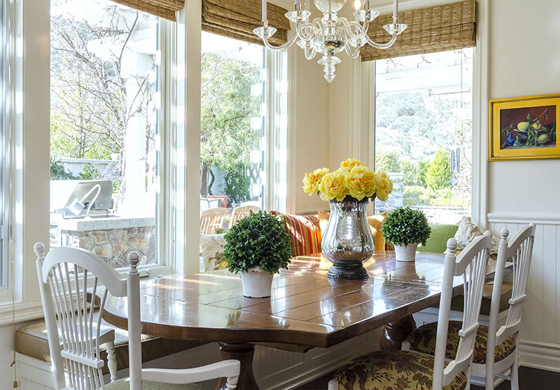 interior designed breakfast nook