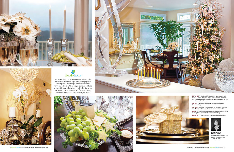 Westlake Malibu Magazine Holiday Genoveve Serge Interior Design